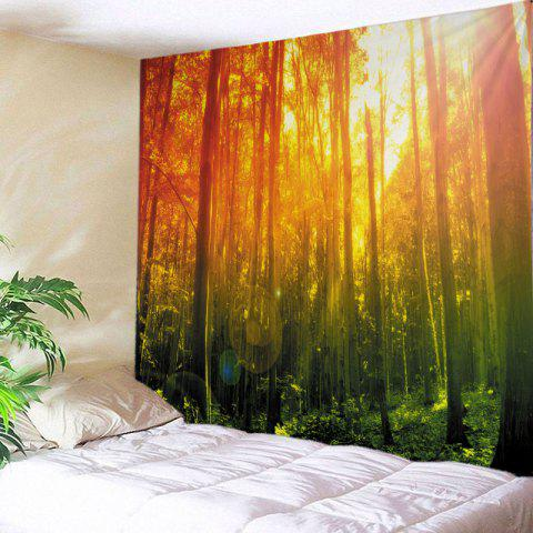 Forest Sunshine Print Tapisserie Wall Hanging Art Décoration