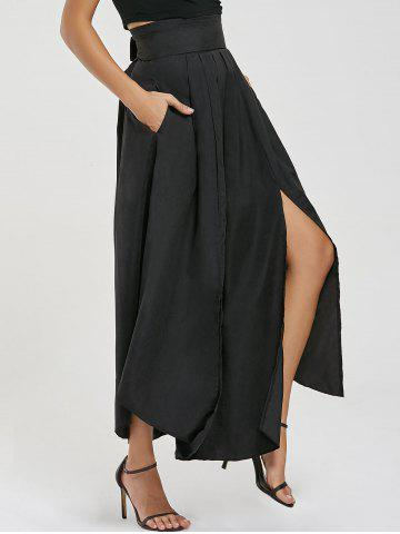 Outfit High Waisted Slit Maxi Skirt - S BLACK Mobile