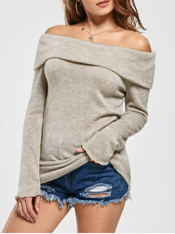 New Off The Shoulder Sweater