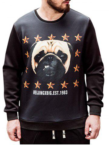 Outfits Plus Size Dog Print Sweatshirt