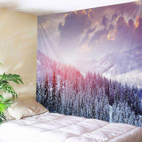 Mountain Snow Print Tapestry Wall Hanging Art Décoration