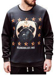 Plus Size Dog Print Sweatshirt