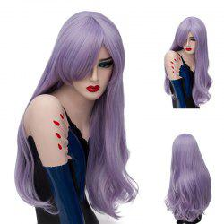 Long Inclined Bang Slightly Curly Synthetic Wig