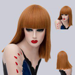 Medium Neat Bang Straight Synthetic Wig