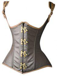 Faux Leather Underbust Corset Vest