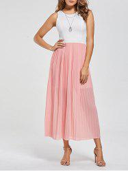 Cut Out Chiffon Maxi Dress