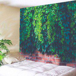 Waterproof Leaf Brick Print Wall Art Tapestry
