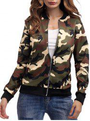 Zippered Camouflage Jacket