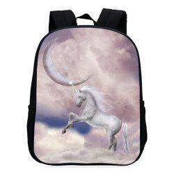Padded Strap Unicorn Printed Backpack - PALOMINO