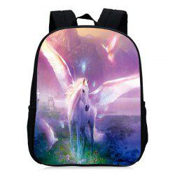Padded Strap Unicorn Printed Backpack - PINKISH PURPLE