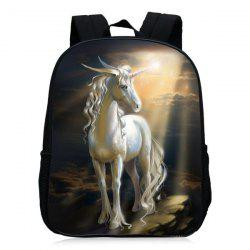 Padded Strap Unicorn Printed Backpack -
