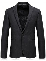 Lapel Edging One Button Irregular Pinstripe Blazer