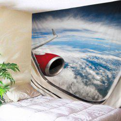 Airplane Window View Print Tapestry Wall Hanging Art Decoration -