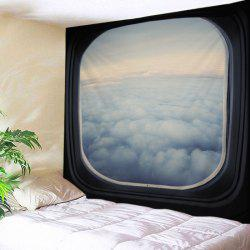 Window Cloud View Print Tapestry Wall Hanging Art Decoration