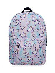 Unicorn Printed Backpack - PINKISH BLUE