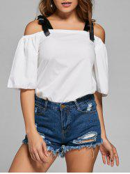 Tied Cold Shoulder Top