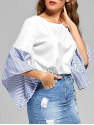 Striped Flare Sleeve Top