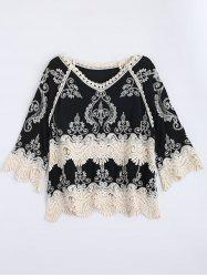 Scalloped Embroidery Crochet Insert Top