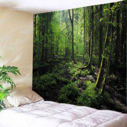 Forest Trees Print Tapestry Wall Hanging Art Decoration - GREEN W79 INCH * L71 INCH