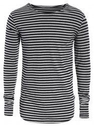 Long Sleeve Striped Mens Top