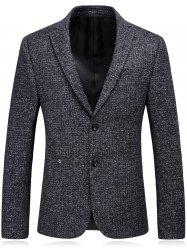 Woolen Blend Single Breasted Metallic Eyelet Blazer -