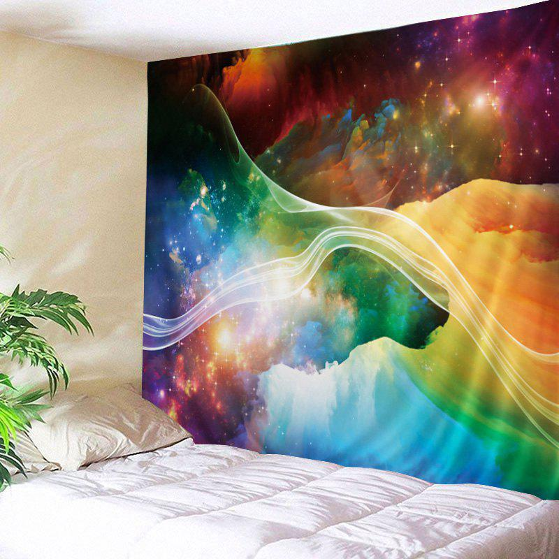 Colorful Starry Print Tapestry Wall Hanging Art DecorationHOME<br><br>Size: W79 INCH * L59 INCH; Color: COLORFUL; Style: Hipster; Material: Polyester; Feature: Washable; Shape/Pattern: Print; Weight: 0.4500kg; Package Contents: 1 x Tapestry;