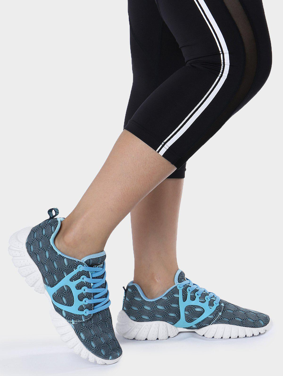 Shops Mesh Breathable Geometric Pattern Athletic Shoes