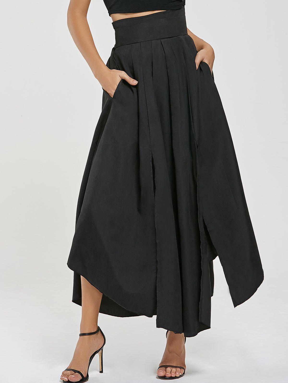 Chic High Waisted Slit Maxi Skirt