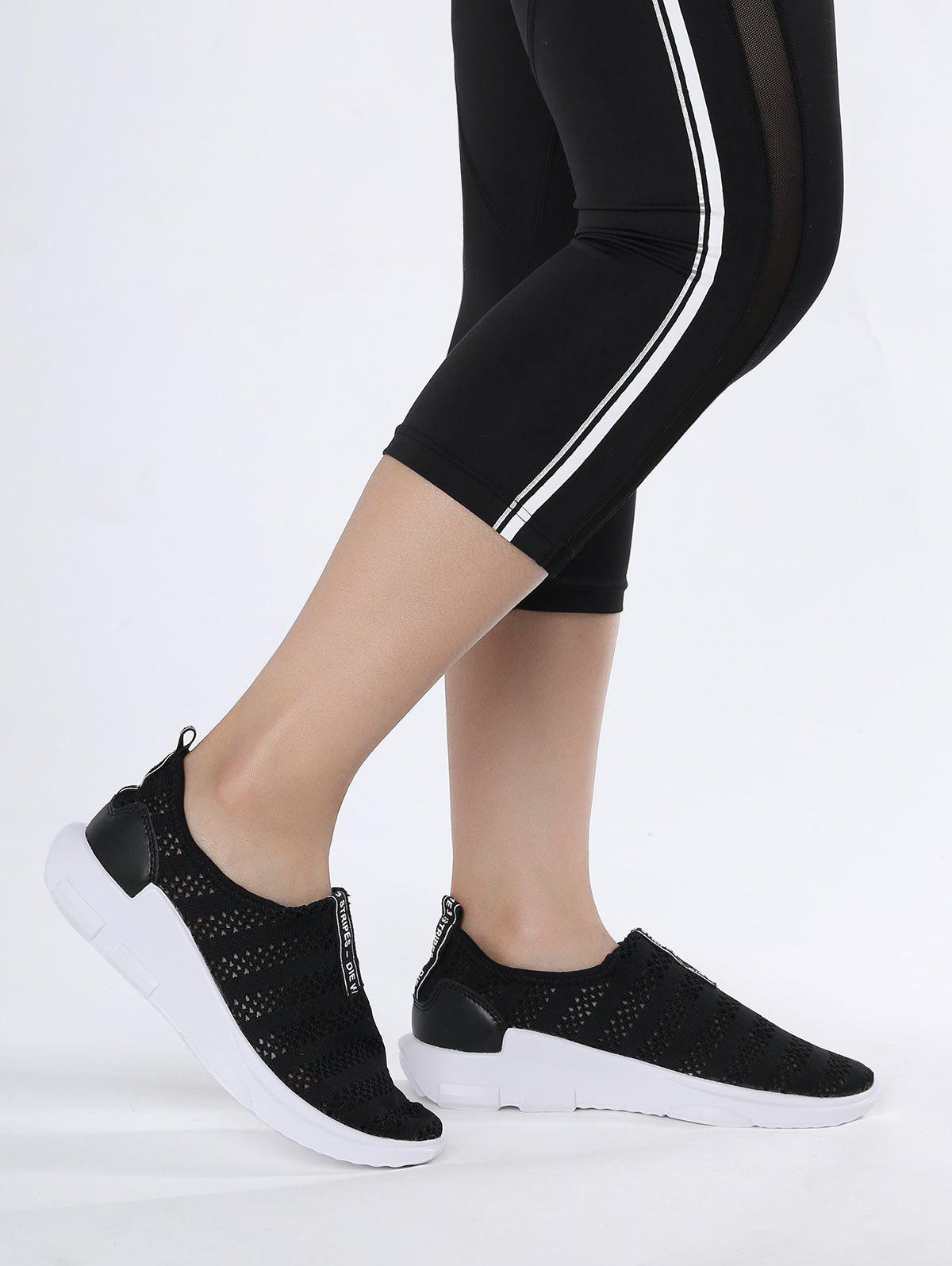 Shops Letter Pattern Breathable Athletic Shoes
