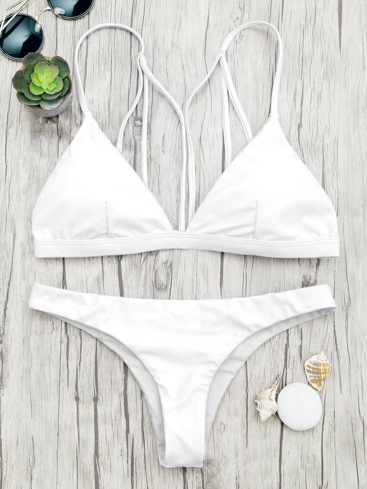 Chic Back Strappy Padded Bathing Suit