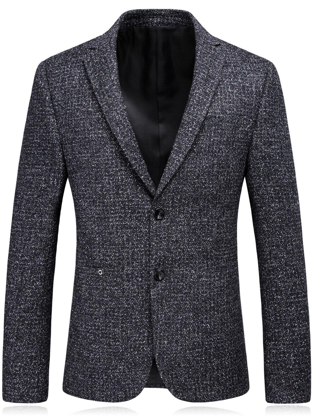 Latest Woolen Blend Single Breasted Metallic Eyelet Blazer