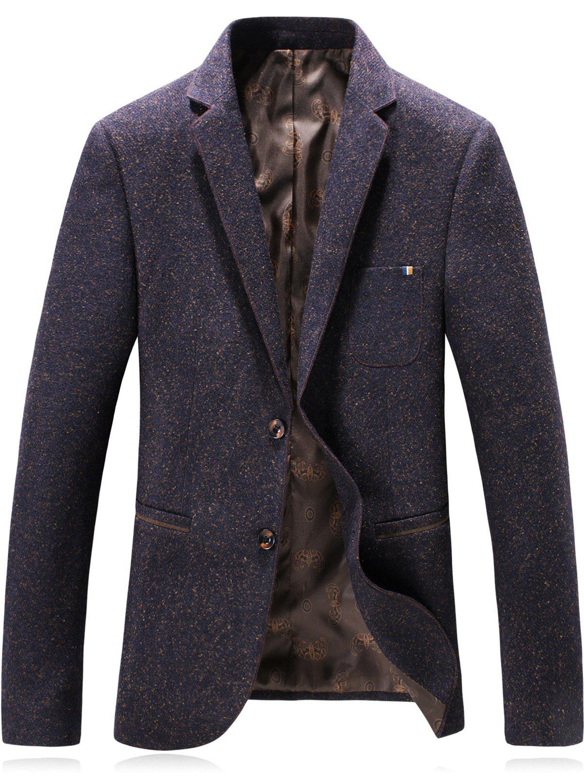 Best Lapel Single Breasted Wool Blend Edging Blazer