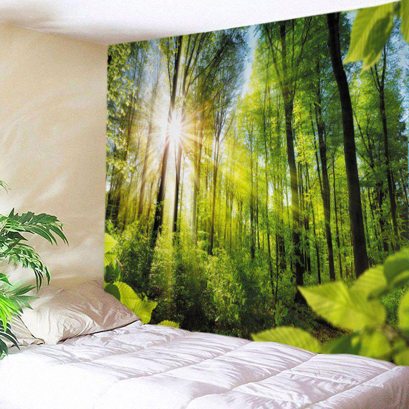 Chic Sunshine Forest Print Tapestry Wall Hanging Art Decoration