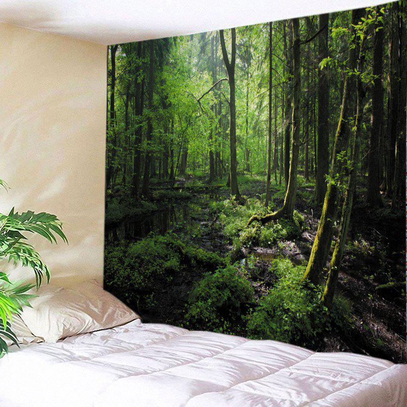 Online Forest Trees Print Tapestry Wall Hanging Art Decoration