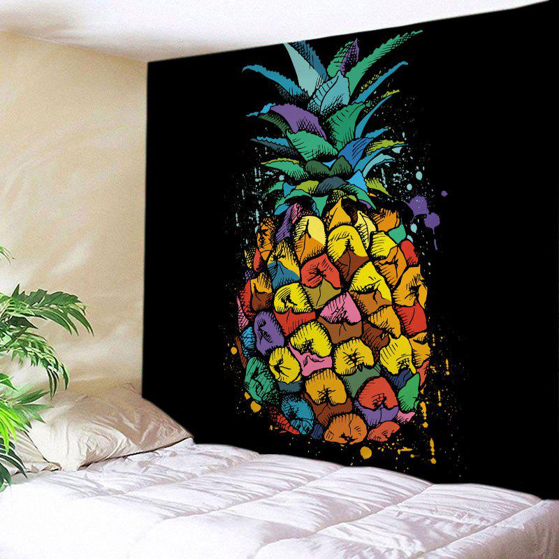 Shop Pineapple Print Tapestry Wall Hanging Art Decoration