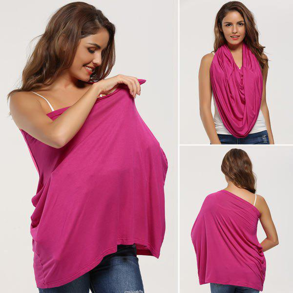 Breastfeeding Portable Nursing Cover ScarfACCESSORIES<br><br>Color: TUTTI FRUTTI; Scarf Type: Scarf; Group: Adult; Gender: For Women; Style: Fashion; Material: Acrylic; Pattern Type: Striped; Season: Fall,Spring,Summer,Winter; Weight: 0.1000kg; Package Contents: 1 x Nursing Scarf;