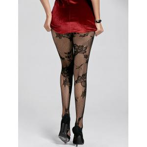 Sheer Floral Fishnet Leggings -