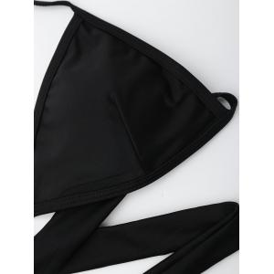 Cut Out Halter Criss Cross Bikini - Noir L