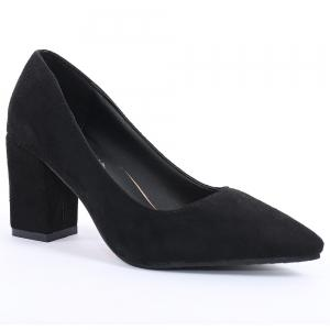 Pointy Block Heel Pumps