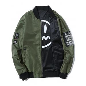 Convertible Wear Zip Up Printed Bomber Jacket