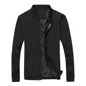 Casual Seamless Zip Up Bomber Jacket