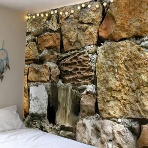 Stone Print Waterproof Velvet Wall Art Tapestry -