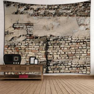 Mottled Brick Waterproof Velvet Wall Tapestry -