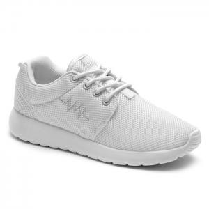 Breathable Embroidery Line Athletic Shoes - White - 38