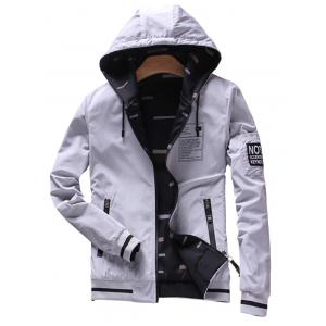 Convertible Wear Zip Up Hooded Bomber Jacket