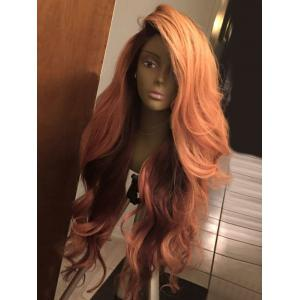 Long Deep Side Part Layered Shaggy Wavy Synthetic Wig