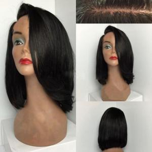 Deep Side Parting Short Straight Bob Synthetic Wig