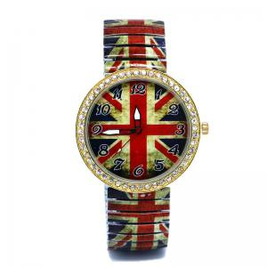 Elastic Alloy Strap Union Jack Watch