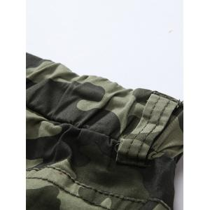 Camouflage Drawstring Beam Feet Jogger Pants - ARMY GREEN CAMOUFLAGE 34