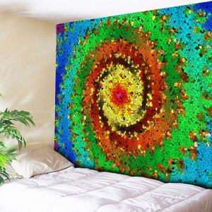 Wall Hanging Colorful Vortex Printed Tapestry
